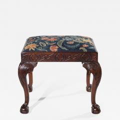 18th Century Queen Anne Walnut Needlepoint Claw Foot Stool - 963308