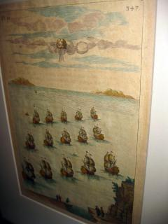 18th Century Set Hand Colored Nautical Engravings Set of Four - 785253