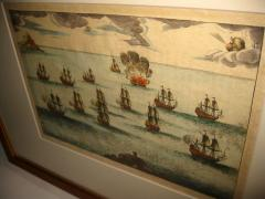 18th Century Set Hand Colored Nautical Engravings Set of Four - 785254