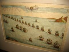 18th Century Set Hand Colored Nautical Engravings Set of Four - 785255