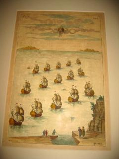18th Century Set Hand Colored Nautical Engravings Set of Four - 785256