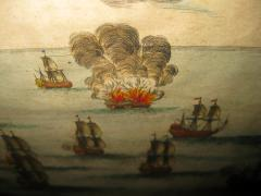 18th Century Set Hand Colored Nautical Engravings Set of Four - 785266