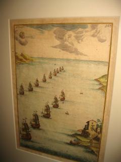 18th Century Set Hand Colored Nautical Engravings Set of Four - 785267