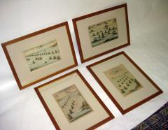 18th Century Set Hand Colored Nautical Engravings Set of Four - 785372