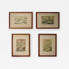 18th Century Set Hand Colored Nautical Engravings Set of Four - 786117