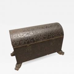 18th Century Spanish Studded Leather Chest - 587606