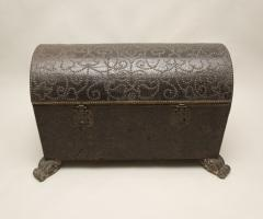 18th Century Spanish Studded Leather Chest - 85706