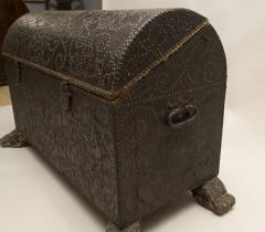 18th Century Spanish Studded Leather Chest - 85709