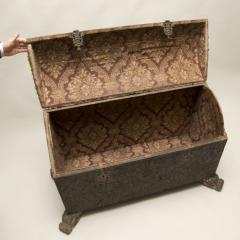 18th Century Spanish Studded Leather Chest - 85713