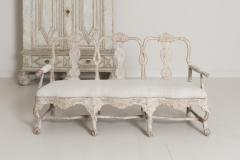 18th Century Swedish Rococo Period Settee Or Bench In Original Paint - 1026730