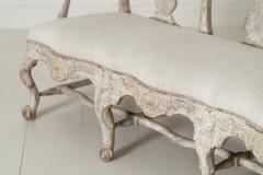18th Century Swedish Rococo Period Settee Or Bench In Original Paint - 1026731