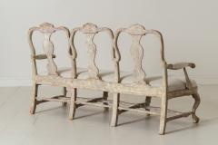 18th Century Swedish Rococo Period Settee Or Bench In Original Paint - 1026732