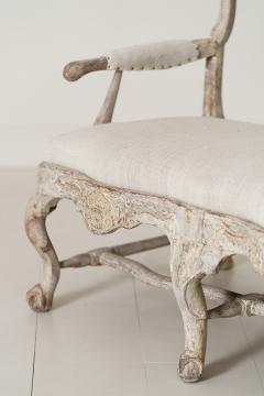 18th Century Swedish Rococo Period Settee Or Bench In Original Paint - 1026733