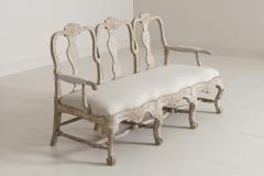 18th Century Swedish Rococo Period Settee Or Bench In Original Paint - 1026734