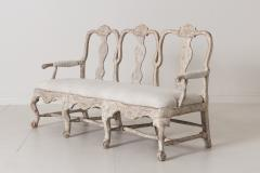 18th Century Swedish Rococo Period Settee Or Bench In Original Paint - 1026735