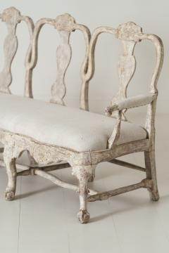 18th Century Swedish Rococo Period Settee Or Bench In Original Paint - 1026737
