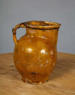 18th Century Yellow Glazed Harvest Pitcher - 1809115