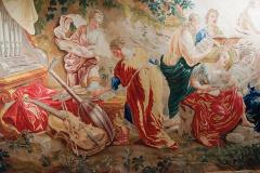 18th Century monumental antique tapestry from Brussels Wedding of Psych  - 956561