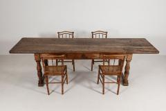 18thC Large French Walnut Drapers Table - 2047782
