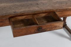 18thC Large French Walnut Drapers Table - 2047848