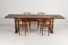 18thC Large French Walnut Drapers Table - 2047849