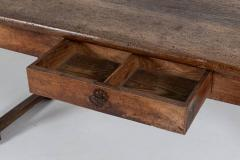 18thC Large French Walnut Drapers Table - 2047850