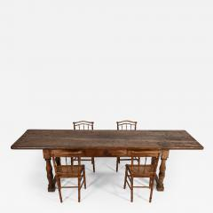 18thC Large French Walnut Drapers Table - 2049258