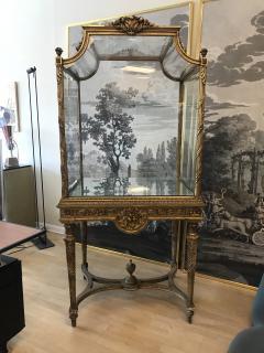 19 Century Italian Showcase with Mirror Base - 575803