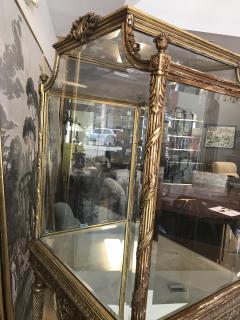 19 Century Italian Showcase with Mirror Base - 575804