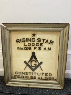 1900S MASONIC LODGE SIGN - 1448617
