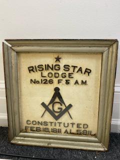 1900S MASONIC LODGE SIGN - 1448618