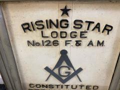 1900S MASONIC LODGE SIGN - 1448619