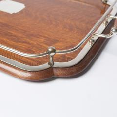 1900s Oak and silver plate tray - 1913927