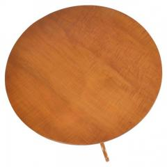 1900s Tilt Top Curly Maple Round Table - 173865