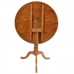 1900s Tilt Top Curly Maple Round Table - 173871