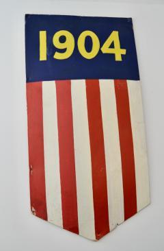 1904 Teddy Roosevelt President Inaugural Shield Rare - 1355080
