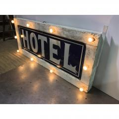 1905 Light Up Double Sided Hotel Sign - 1367951