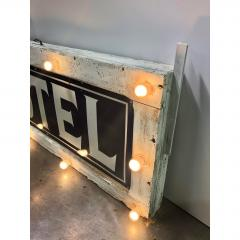 1905 Light Up Double Sided Hotel Sign - 1367954