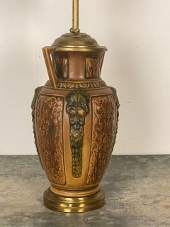 1910s Arts Crafts Earthenware Lamp - 1652231