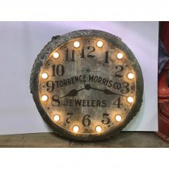 1910s Light Up Double Sided Jewelry Clock Sign - 1368142
