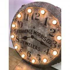1910s Light Up Double Sided Jewelry Clock Sign - 1368148