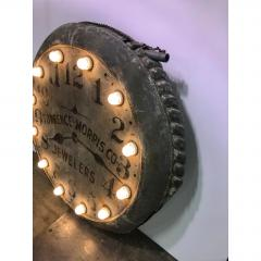 1910s Light Up Double Sided Jewelry Clock Sign - 1368200