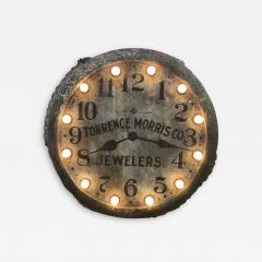 1910s Light Up Double Sided Jewelry Clock Sign - 1369173