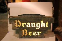 1920s American Double Sided Light Up Draught Beer Sign - 688763