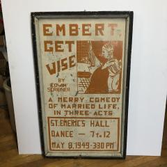 1920s American Hand Painted Theater Poster Sign - 1370644