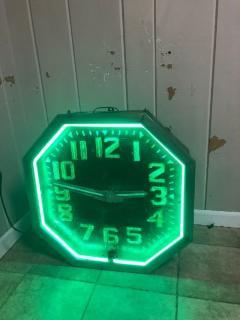 1920s American Neon Clock - 1368214