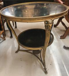1920s French Gueridon Side Table with Rams Head Details and Marble Top - 1045326