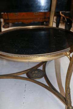 1920s French Gueridon Side Table with Rams Head Details and Marble Top - 1045327
