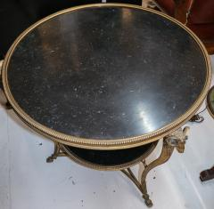 1920s French Gueridon Side Table with Rams Head Details and Marble Top - 1045330