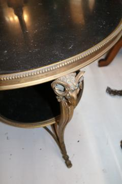 1920s French Gueridon Side Table with Rams Head Details and Marble Top - 1045333